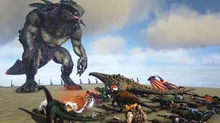 King Titan VS All Creatures - ARK: Extinction | Cantex