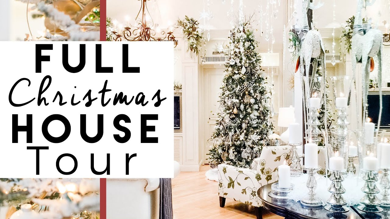 Christmas decorations home tour christmas at the robeson for Home decorations youtube