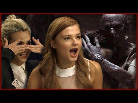 INSIDIOUS 3  Steie Scott & Hayley Kiyoko's Scary Moments on Set!