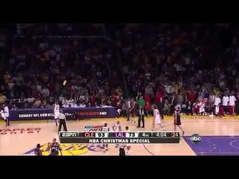 Lakers Fans throws Foam Fingers On Court 12.25.09