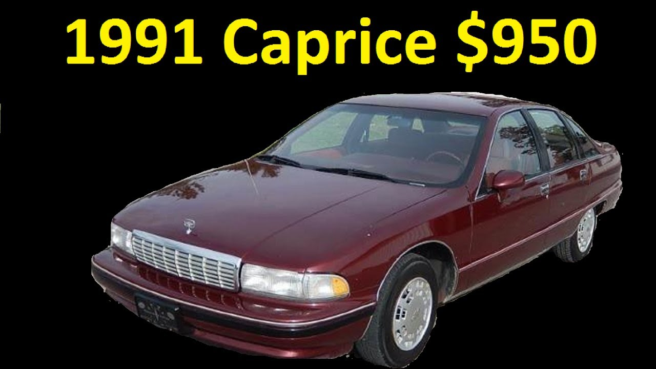 1991 Chevrolet Caprice For Sale Test Drive & Review Buy Now $950