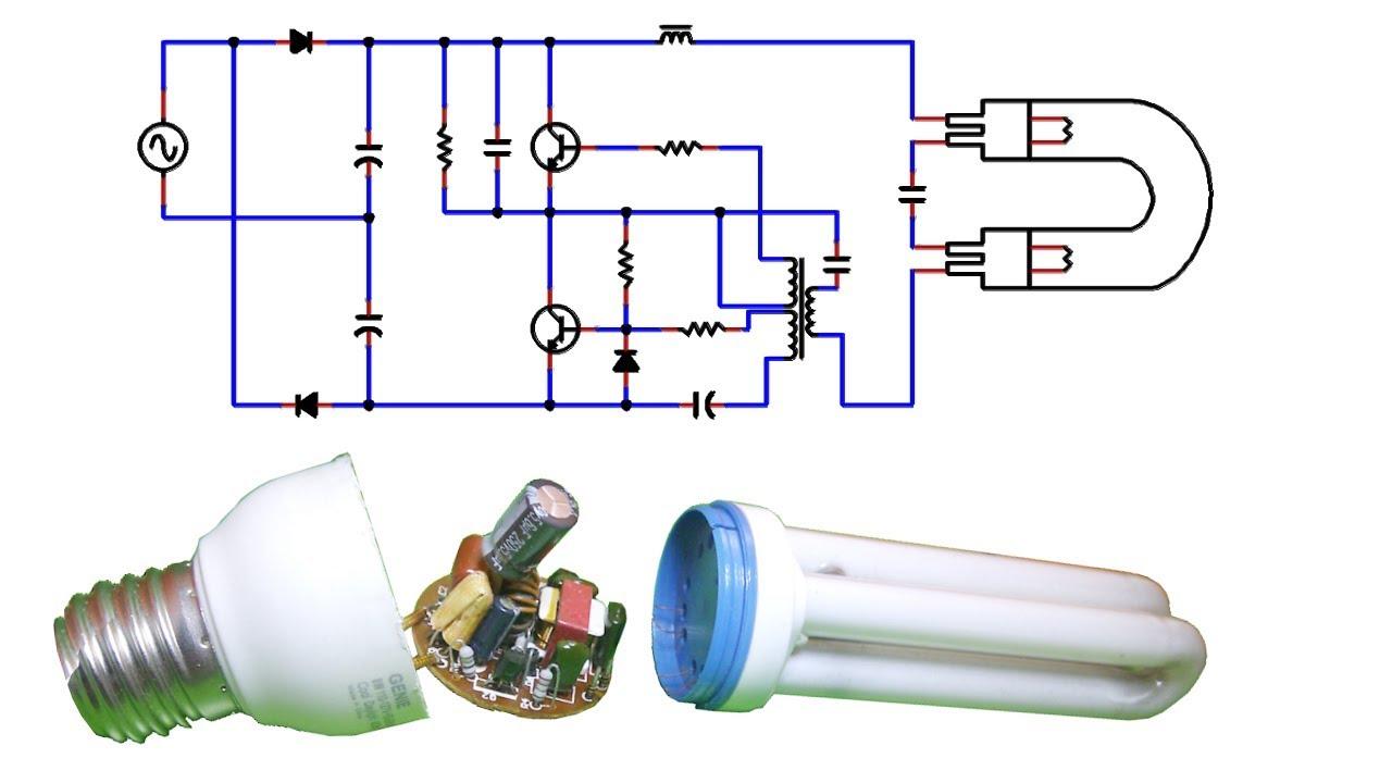 Tutorial como funciona una lampara cfl o compact - Focos de bajo consumo para exterior ...