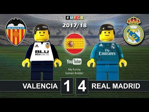 Valencia vs Real Madrid 1-4 • LaLiga 2018 (27/01/2018) Goal Highlights Film Lego Football