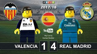 Valencia vs Real Madrid 1-4 • LaLiga 2018 (27/01/2018) Goal Highlights Film Lego Football