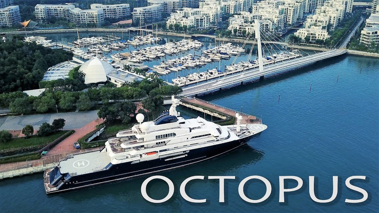 Microsoft Co Founders 250mil Megayacht Octopus In Singapore 4K