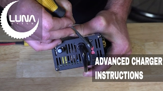 luna cycle 52v ebike battery charger 300w use instructions
