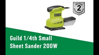 4571298 Guild 4th Small Sheet Sander   200W