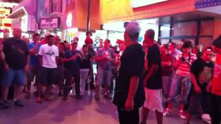 Rythm Invade and LA Breakers Street Shows in Freemont Las V