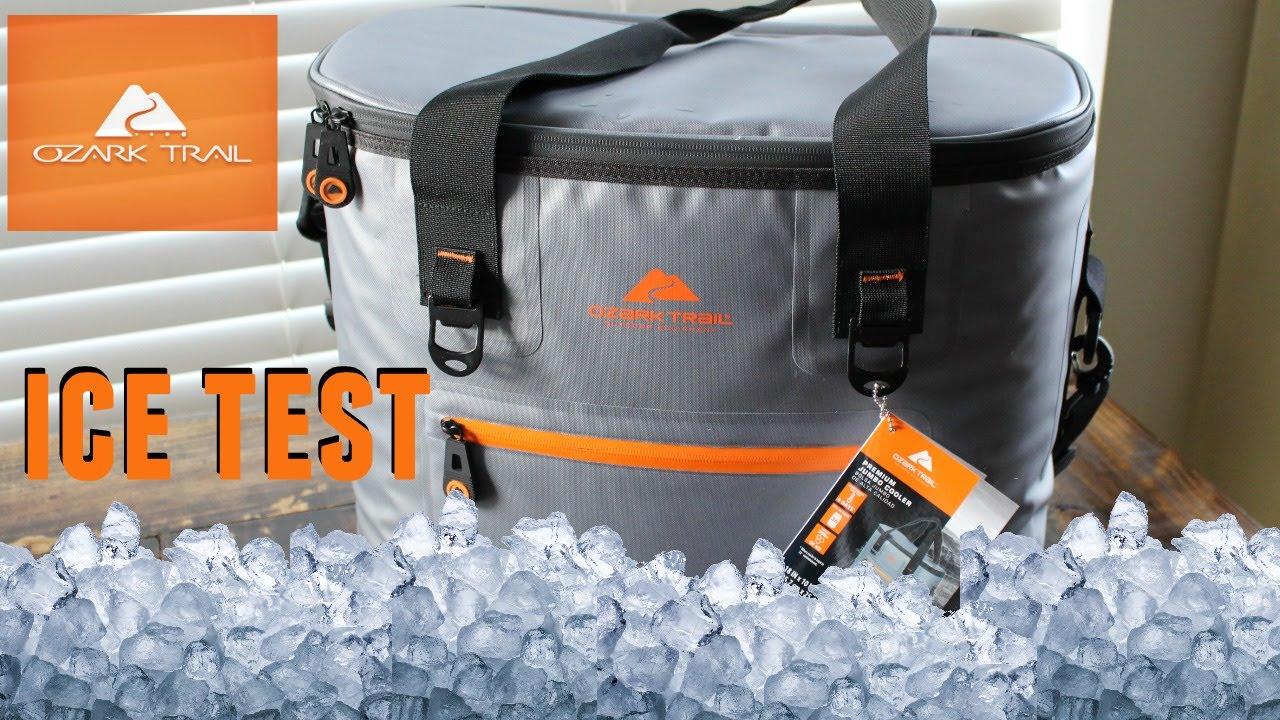 Ozark Trail Jumbo Soft Cooler Ice Amp Leak Test Youtube