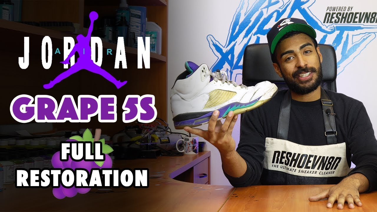 d50197415216c2 2006 Fresh Prince Jordan 5 Grape Restoration by Vick Almighty - YouTube