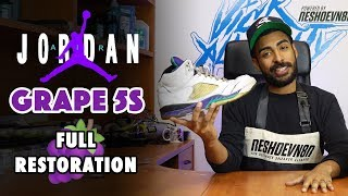 2006 Fresh Prince Jordan 5 Grape Restoration by Vick Almighty