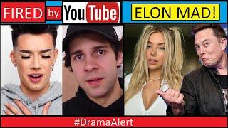 David Dobrik & James Charles FIRED by YouTube! #DramaAlert Elon Musk calls out Corinna Kopf!