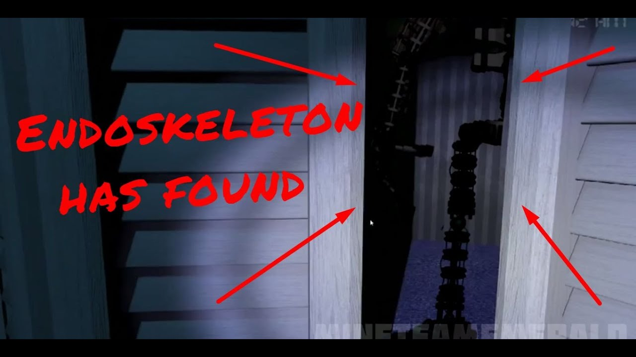 Endoskeleton has been found in fnaf 4 youtube sciox Choice Image