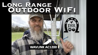 WAVLINK AC1200 Outdoor WiFi Access Point for the Ranch.  LONG RANGE WiFi for Homestead Outbuildings
