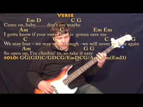 Seven Bridges Road (Eagles) Guitar Cover Lesson with Chords/Lyrics The Eagles - Lyin' Eyes (Backing Track) (Guitar Chords-Lyrics)