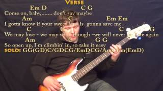 Take It Easy (Eagles) Bass Guitar Cover Lesson with Chords/Lyrics