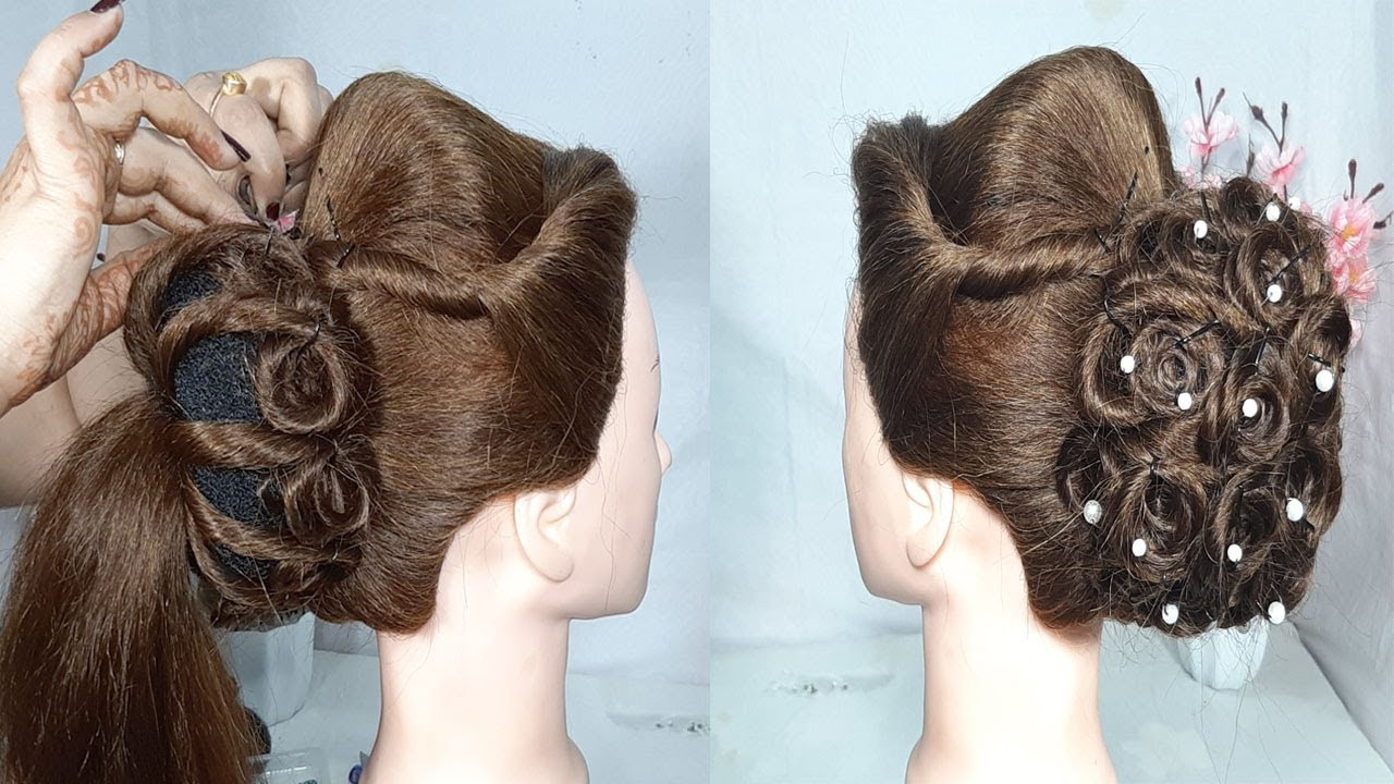 new twisted juda hairstyle for Wedding or party | easy hairstyles | new hairstyles | hairstyles ...