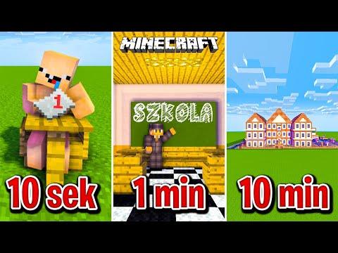 Minecraft BUDUJĘ SZKOŁĘ W 10 SEKUND, 1 MINUTĘ I 10 MINUT! thumbnail