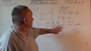 Алгебра. 10 класс. Показательное уравнение. Решение 5^(2x-1)-5^(2x-3)=4,8
