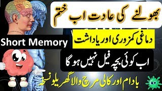 🙉Dimagh Ki Kamzori Ka Ilaj In Urdu \ Hindi || Short Memory || Brain And Memory Power Boost