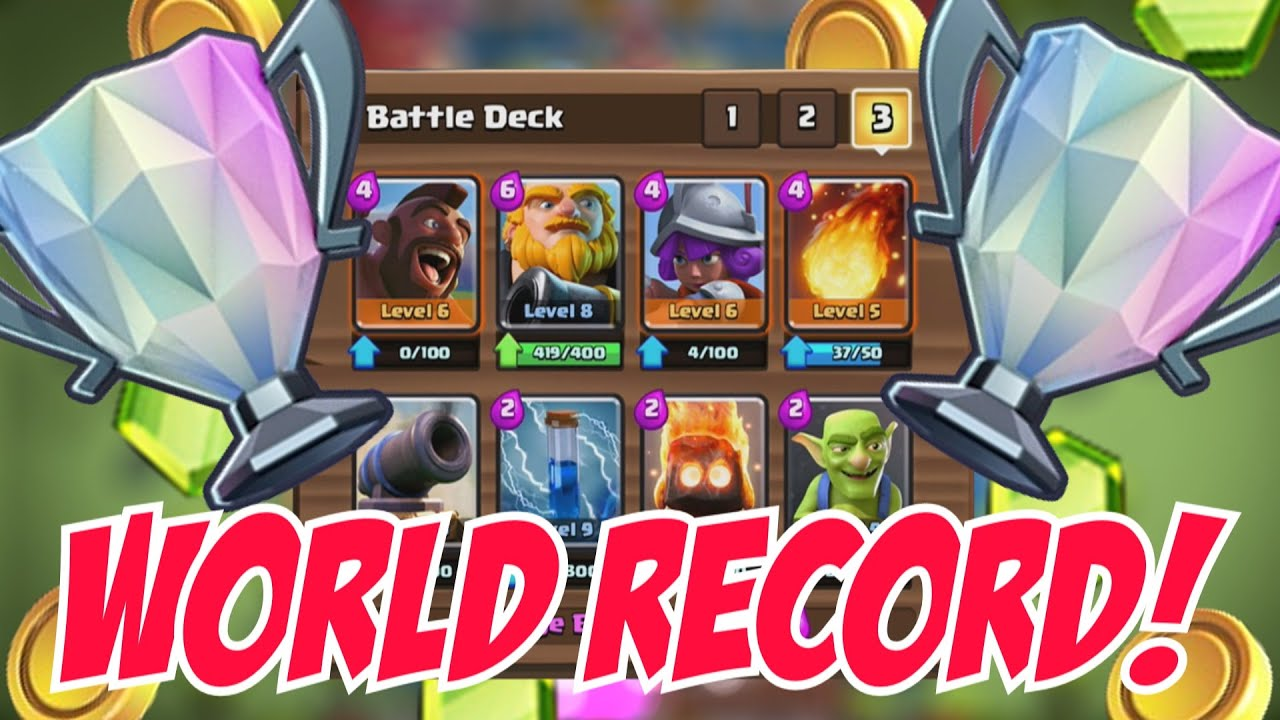Record breaking deck clash royale amazing deck that is for Clash royale deck arc x