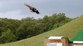 Girl Does Backflop Off Huge Water Slide