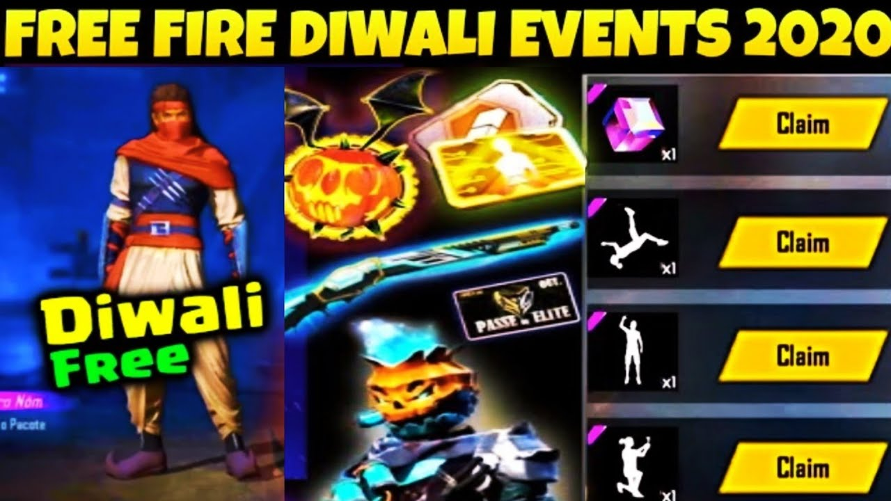 Free Fire Diwali Events // Free Bahubali Bundle, Emote, Legendary Gun Skin // Store Gaming
