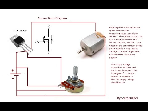 how to build a simple dc motor speed control circuit how to build the simplest dc motor speed controller using potentiometer and mosfet updated