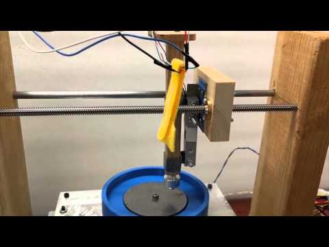 Low-cost Pin-on-disk Tribometer, Spring 2016 E4, Harvey Mudd College