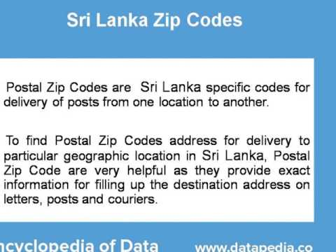 About Sri Lanka Postal Zip Code Finder