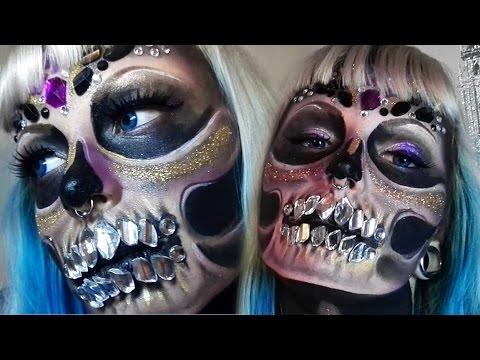 diamond-skull---halloween-make-up-tutorial-(ft.-giada)