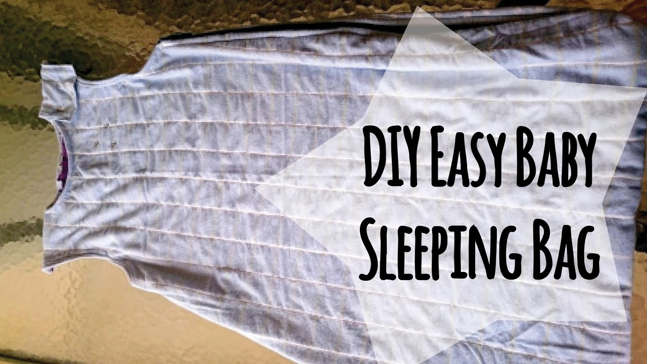 Diy Baby Sleeping Bag From Old Blankets Youtube