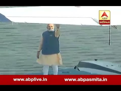 PM Modi Fly In Sea Plan At Ahmedabad Riverfront, Gujarat Election 2017