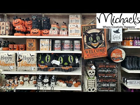 Michael's HALLOWEEN VINTAGE DECOR & TUESDAY MORNING SHOP WITH ME 2019 thumbnail