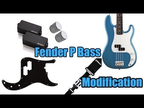 Fender P Bass Modification (EMG PX Demo)