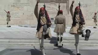 Gréce Athènes relève de la garde les Evzones