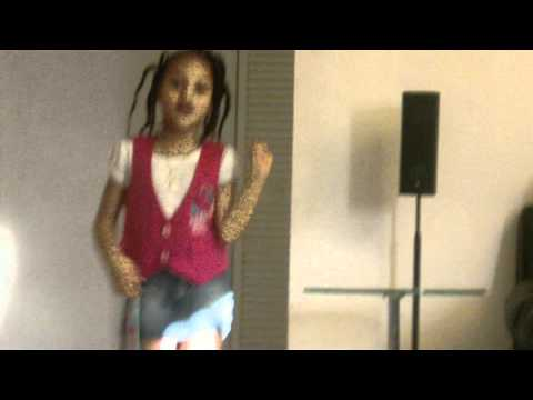 Briana roy dancing and singing to pretty girl rock