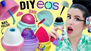 diy eos beauty   eos nail polish   eos beauty blender   eos lip gloss   eos galaxy eyeshadow liner