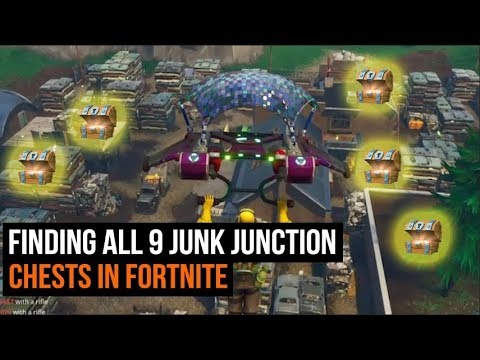 ALL 9 Junk Junction Chest Locations in Fortnite - Season 3 Challenges