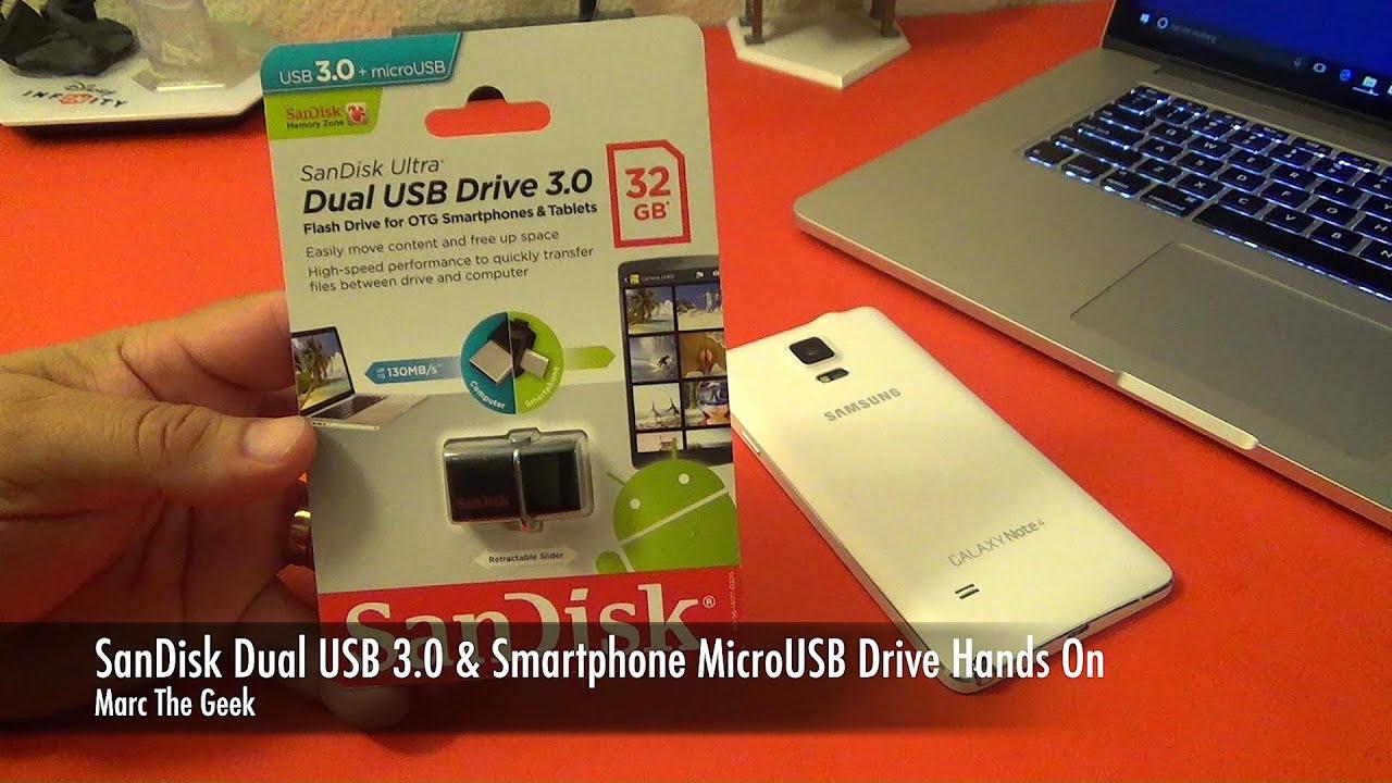 Sandisk Dual Usb Drive 30 Smartphone Microusb Hands On Ultra M30 64gb Original 64 Gb Otg Easy File Transfer