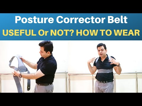 Posture Corrector, How To Wear Posture Corrector Belt, Posture Corrector Device- How And When To Use