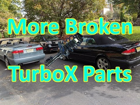 Low Mileage Saab 9-3 TurboX Strut Removal + OG 9-3 Dashboard Speaker Upgrade!
