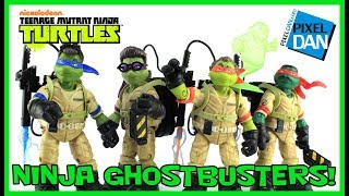 Ninja Ghostbusters Teenage Mutant Ninja Turtles Figures Video Review