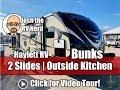 2017 Bullet 310BHPR Premier Ultralite 2 Slide Private Bunkhouse Outside Kitchen Used Travel Trailer