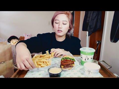 Shake Shack Burger (first time!) | MUKBANG