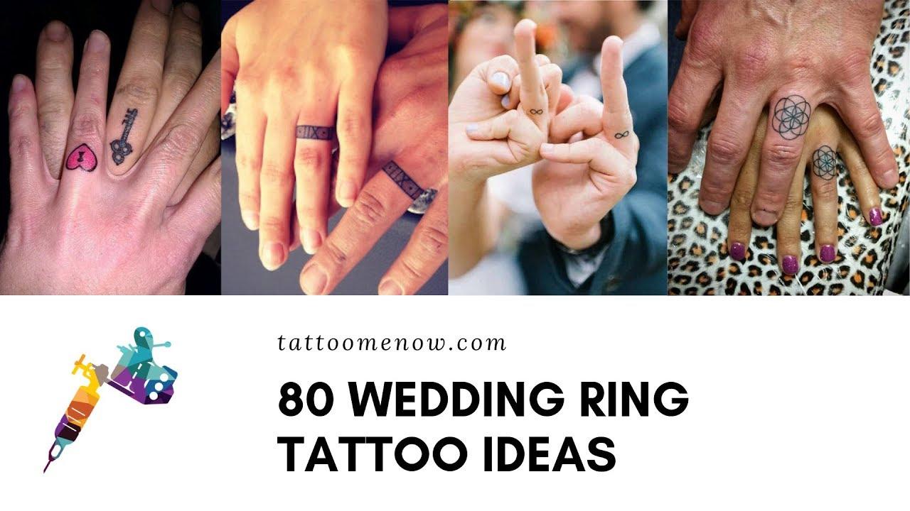 80 Wedding Ring Tattoo Ideas And Designs