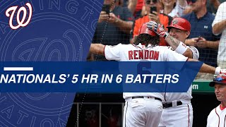 Nationals crush five homers in the 3rd inning