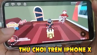 TRY to PLAY ROBLOX on IPHONE X | THE FIRST PLAY ON PHONE | MINHMAMA