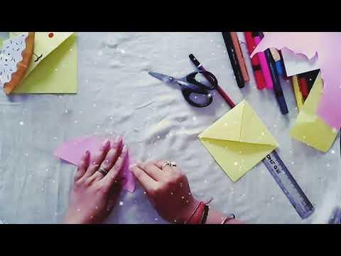 How to make Bookmark| | Corner Bookmark | Four cute origami Corner Bookmark