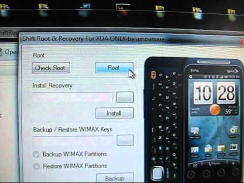 How to root and clockworkmod the HTC EVO Shift 4G on Android 2.2